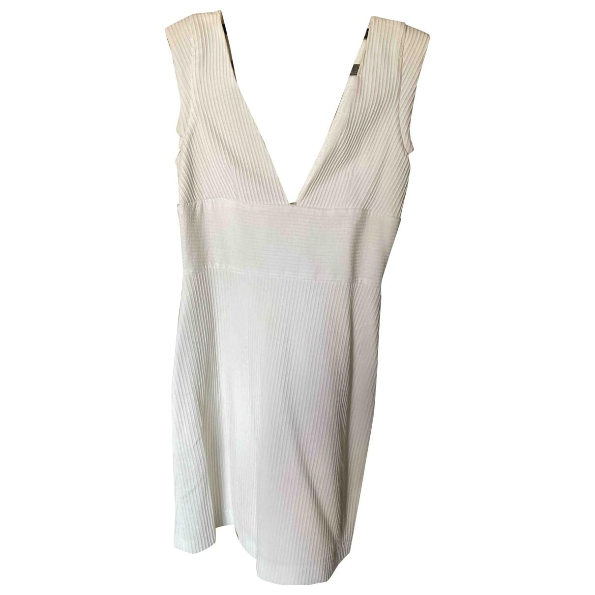 Zara \N Kleid in  Weiss Baumwolle - Elasthan