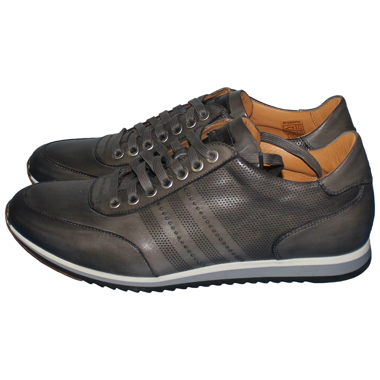 Magnanni \N Anthracite Leather Trainers for Men 7 UK