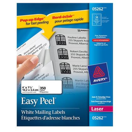 Avery@ Easy Peel@ White Laser Address Labels - 4