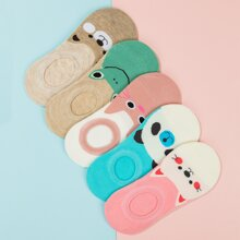 5pairs Color Boat Socks