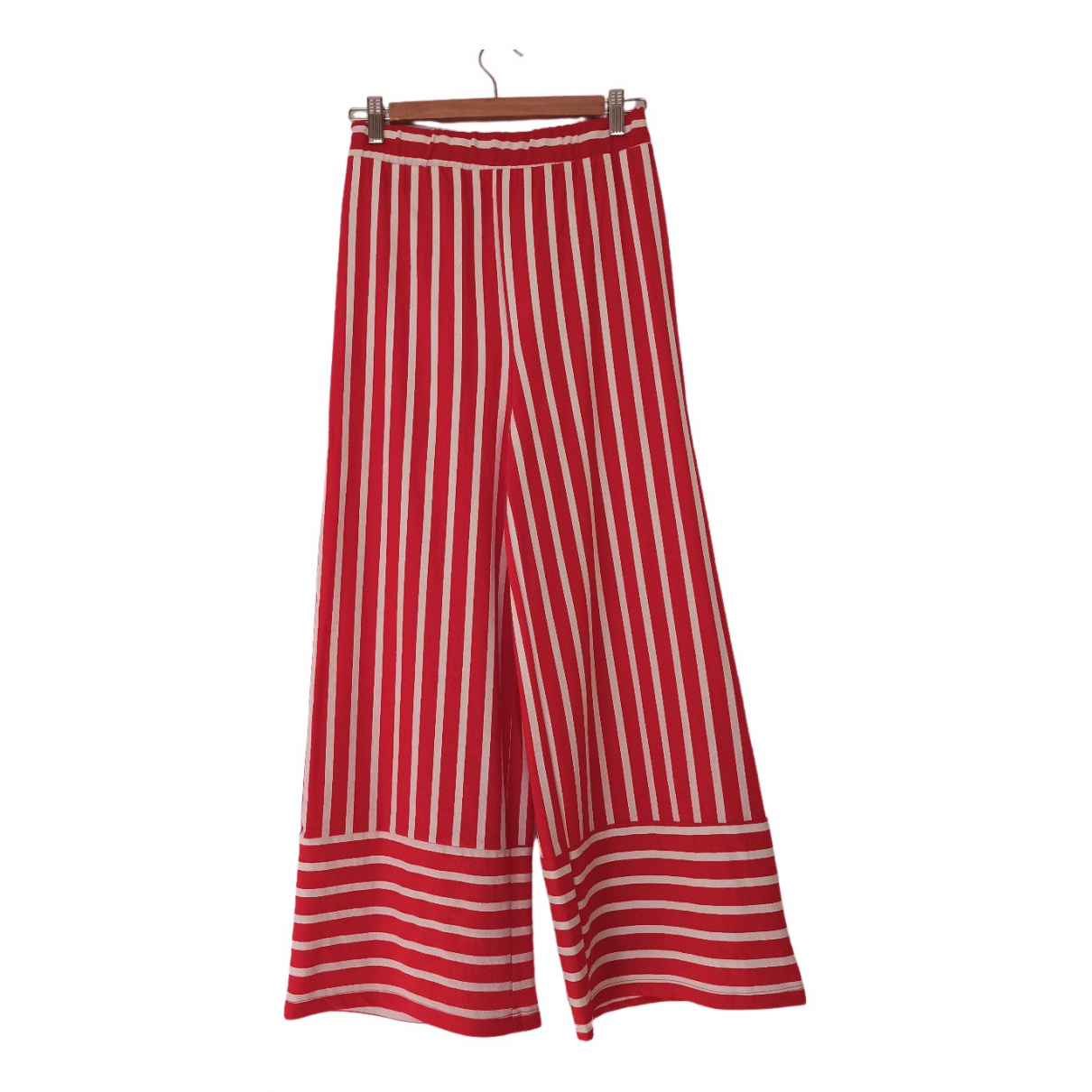 Zara \N Red Trousers for Women S International