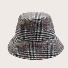 Sombrero cubo con patron de pata de gallo