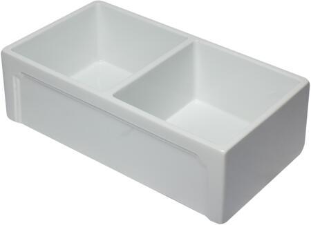 AB3318DB-W 33 inch White Reversible Double Fireclay Farmhouse Kitchen