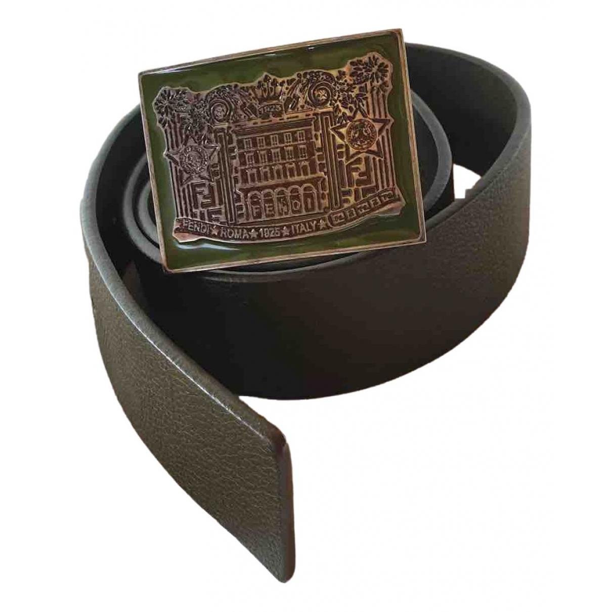 Fendi \N Green Leather belt for Men L international