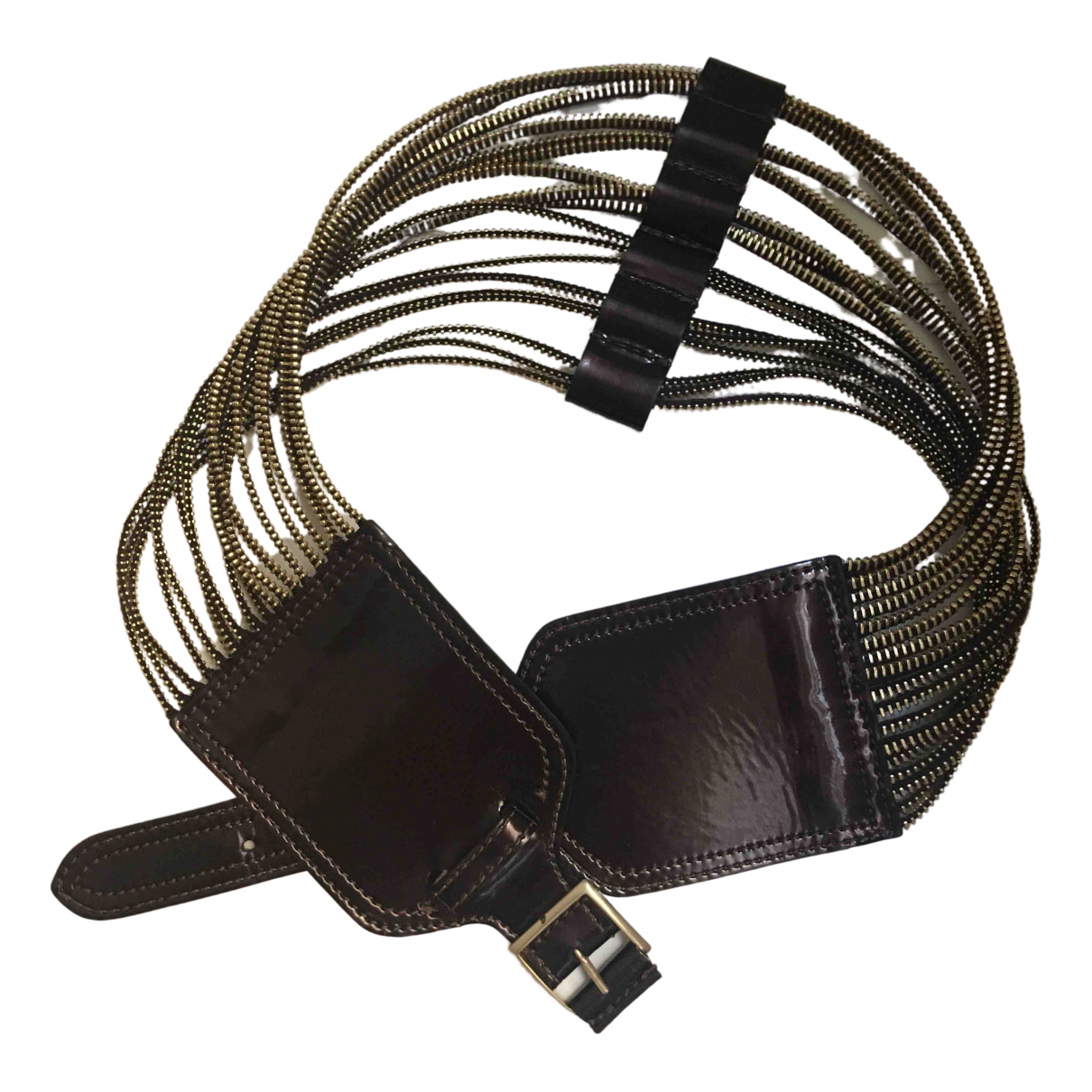 Emporio Armani \N Brown Leather belt for Women 70 cm