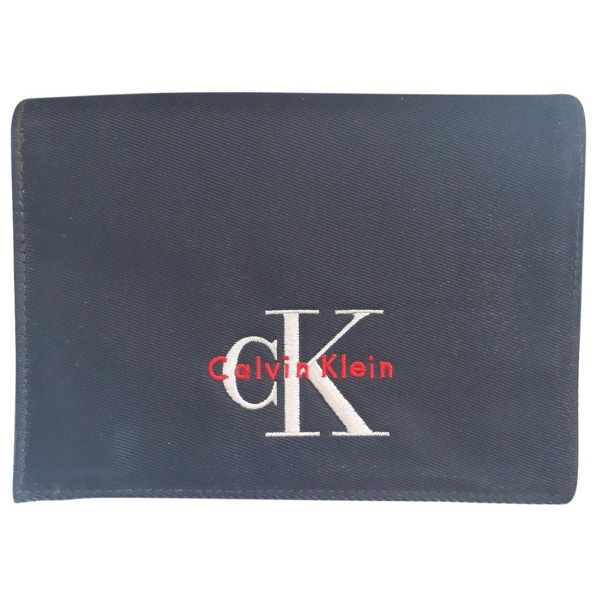 Calvin Klein - Petite maroquinerie   pour homme en toile - marine