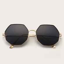 Herren Metallrahmen geometrisch geformte Sonnenbrille