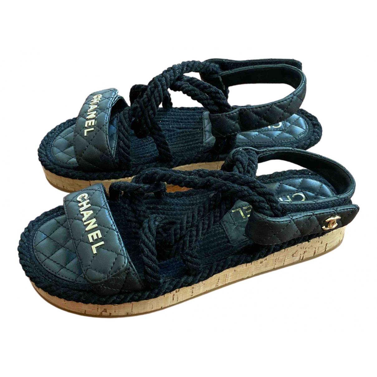 Sandalias romanas Dad Sandals de Cuero Chanel