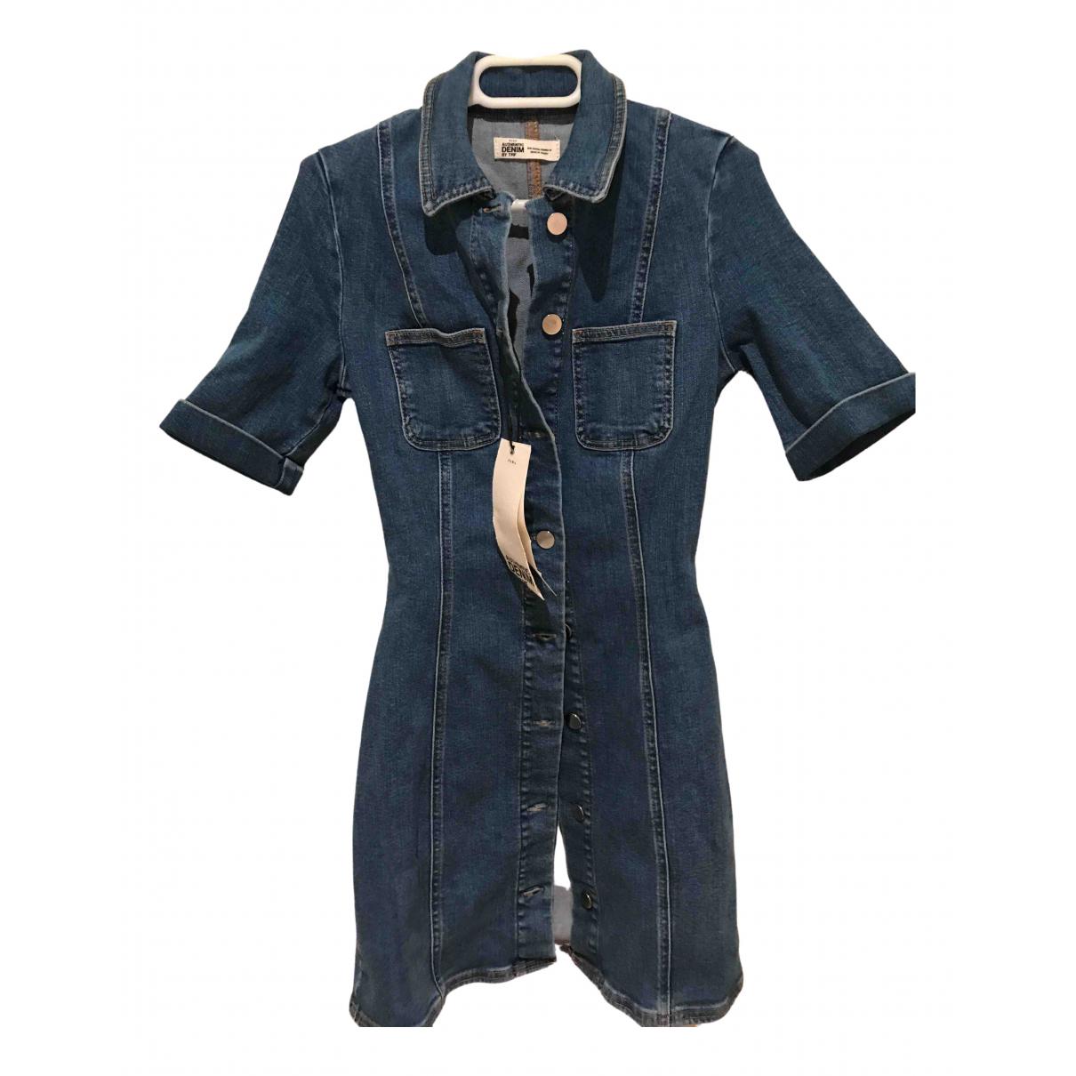 Zara \N Blue Cotton - elasthane dress for Women XS International