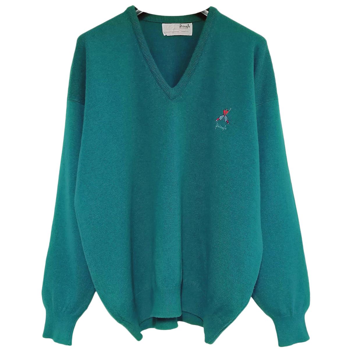Pringle Of Scotland N Turquoise Wool Knitwear & Sweatshirts for Men XXL International