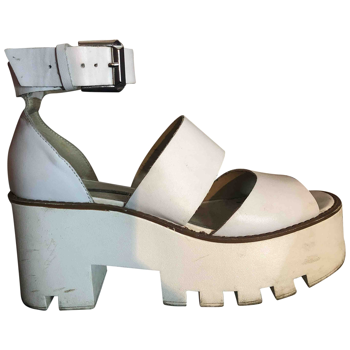 Windsor Smith \N White Leather Sandals for Women 39 EU
