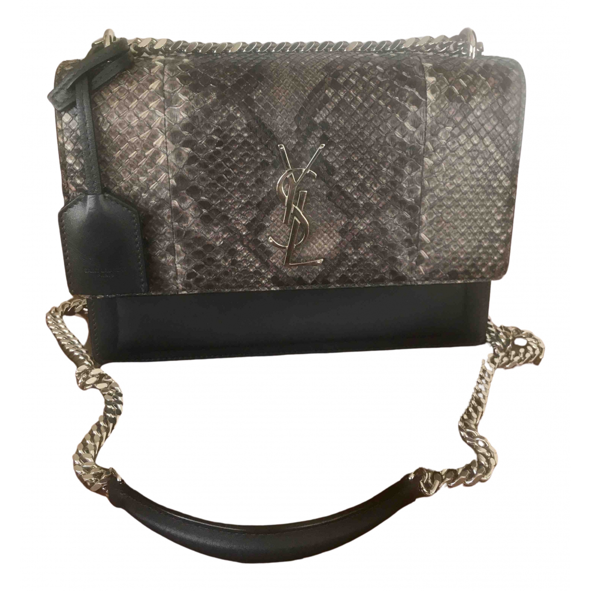 Saint Laurent Sunset Grey Python handbag for Women \N