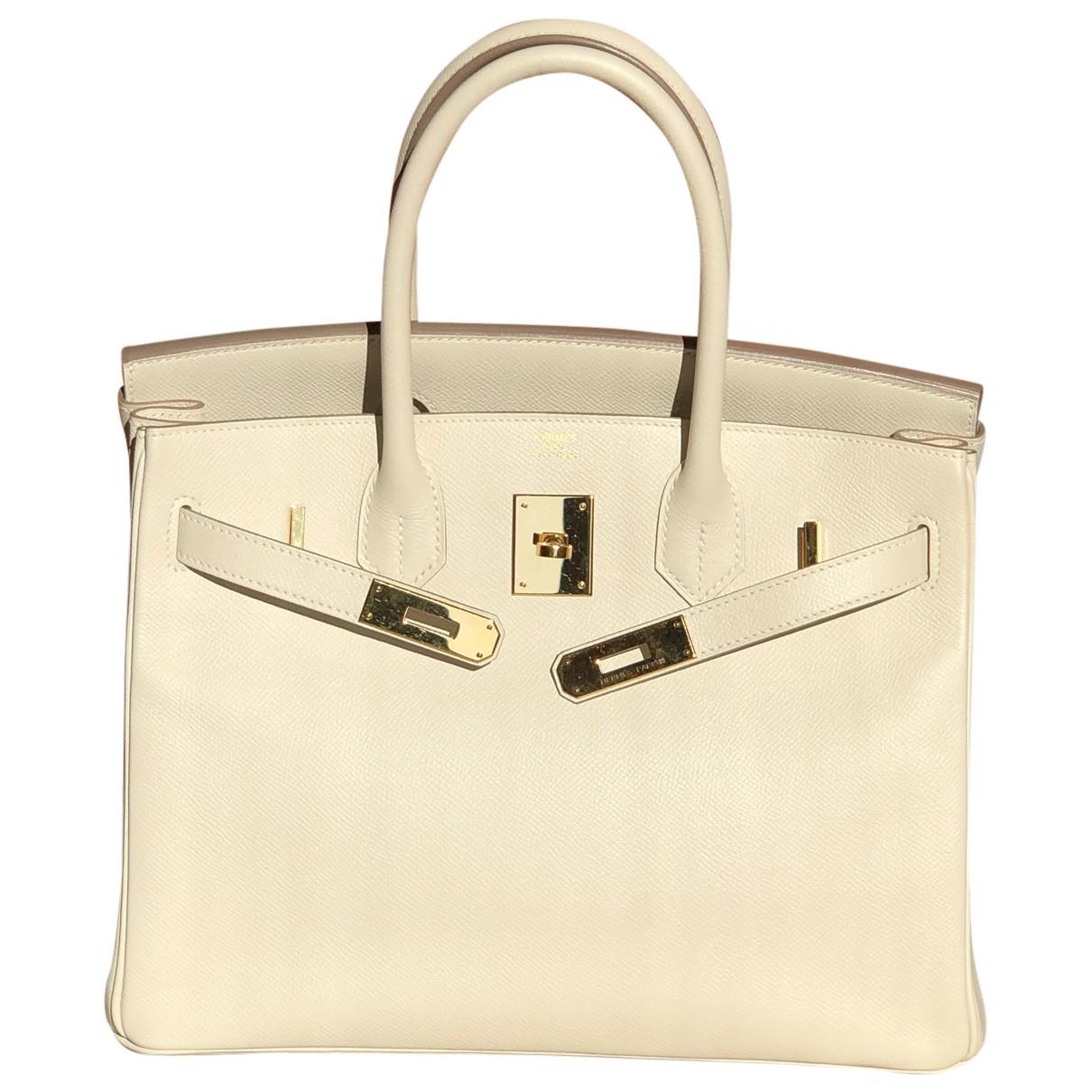 Hermès Birkin 30 White Leather handbag for Women N