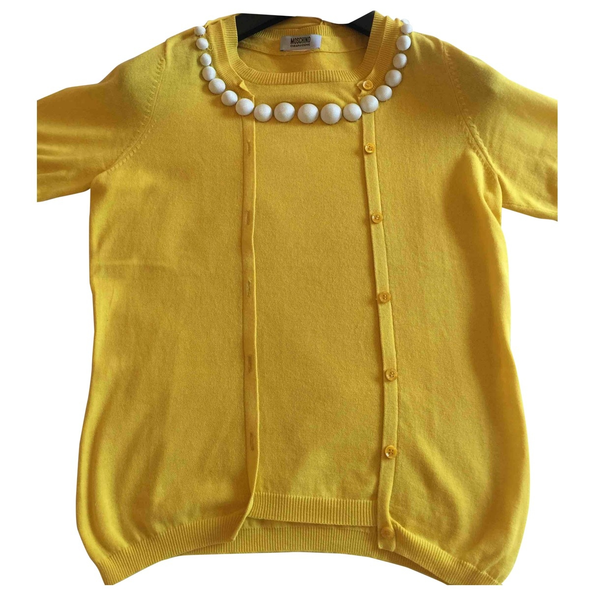 Moschino Cheap And Chic - Top   pour femme en coton - jaune