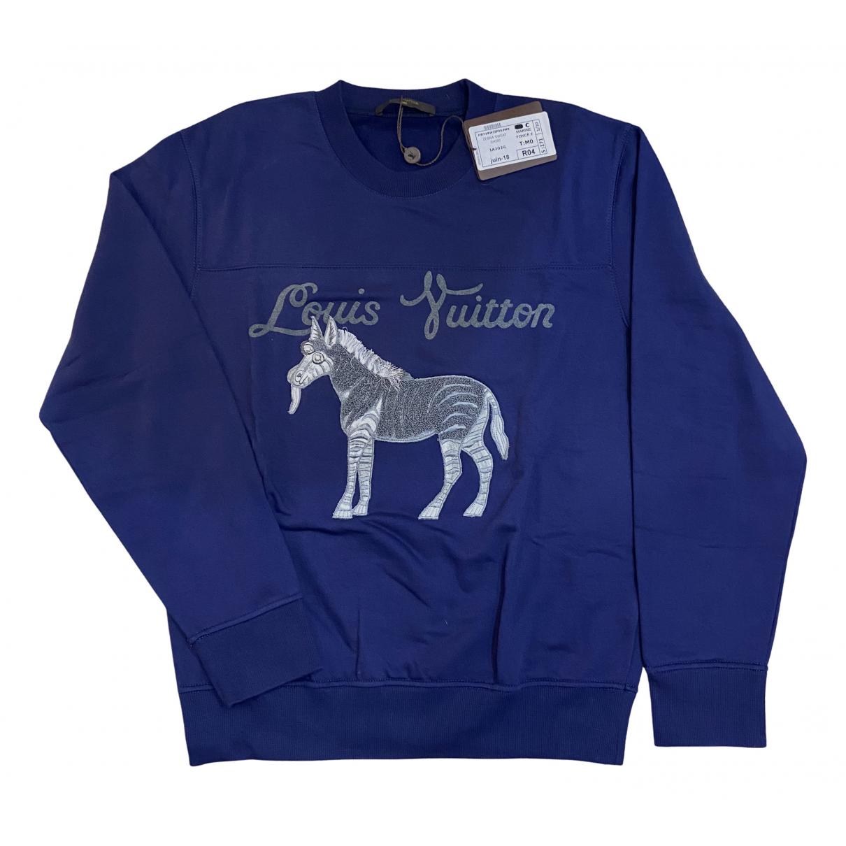 Louis Vuitton - Pulls.Gilets.Sweats   pour homme en coton - bleu