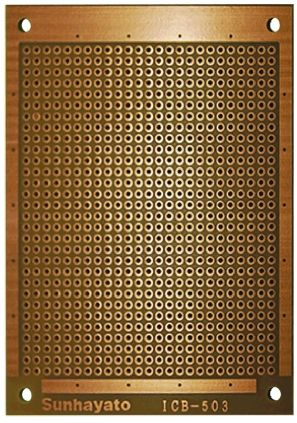 Sunhayato ICB-503, Matrix Board FR1 with 1mm Holes 2.54 x 2.54mm Pitch, 95 x 72 x 1.6mm