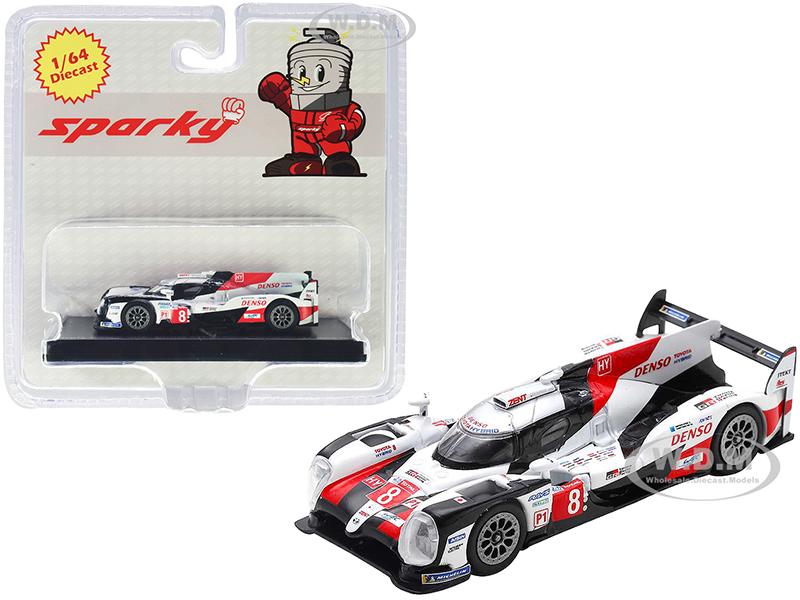 Toyota TS050 Hybrid 8 Toyota Gazoo Racing Winner 24 Hours of Le Mans (2019) 1/64 Diecast Model Car by Sparky