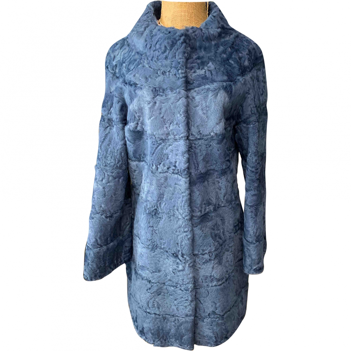 Non Signé / Unsigned \N Turquoise Astrakhan coat for Women 42 IT