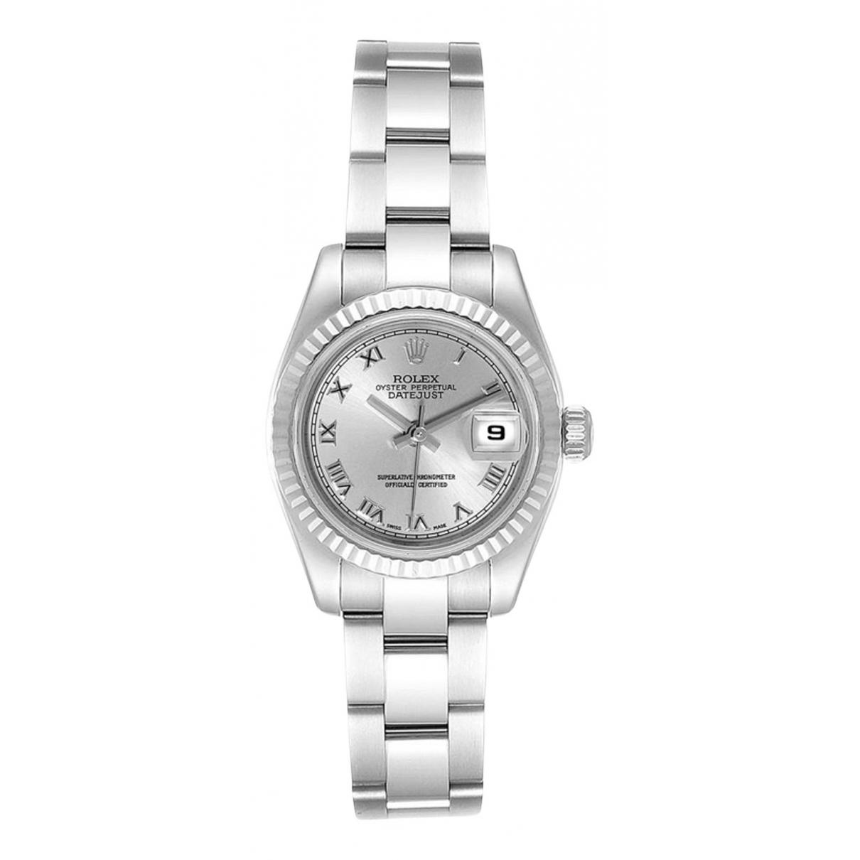 Rolex Lady DateJust 26mm Silver Steel watch for Women \N