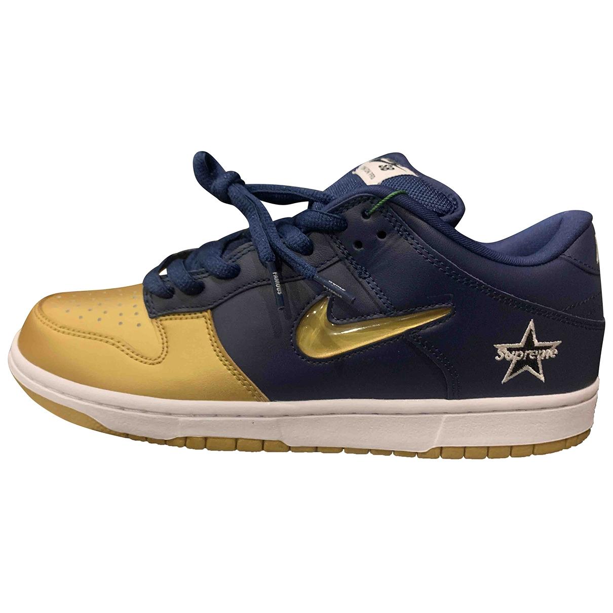Nike X Supreme - Baskets   pour homme en cuir - bleu