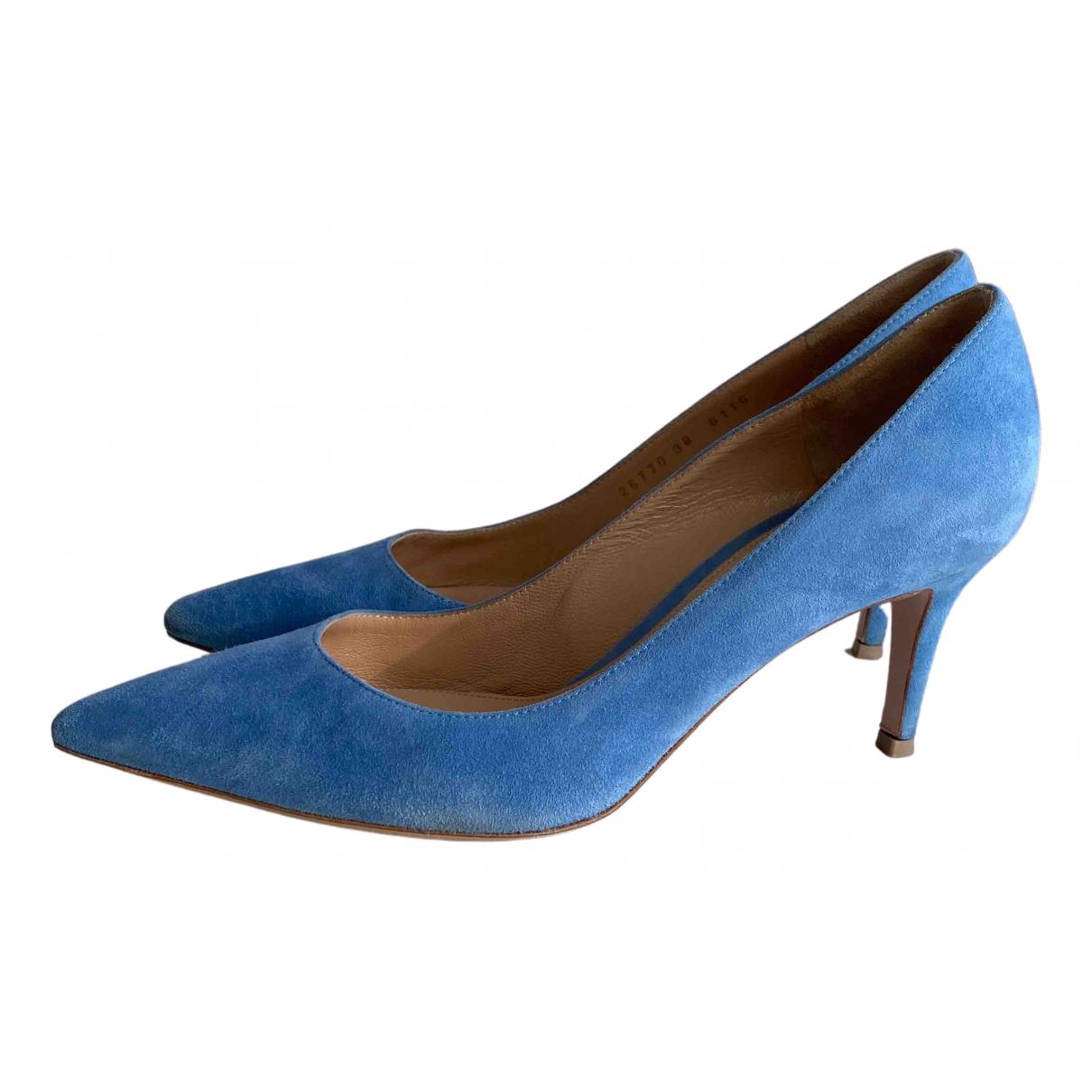 Gianvito Rossi Gianvito Blue Suede Heels for Women 38 EU