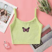 Cami Top mit Schmetterling Stickereien