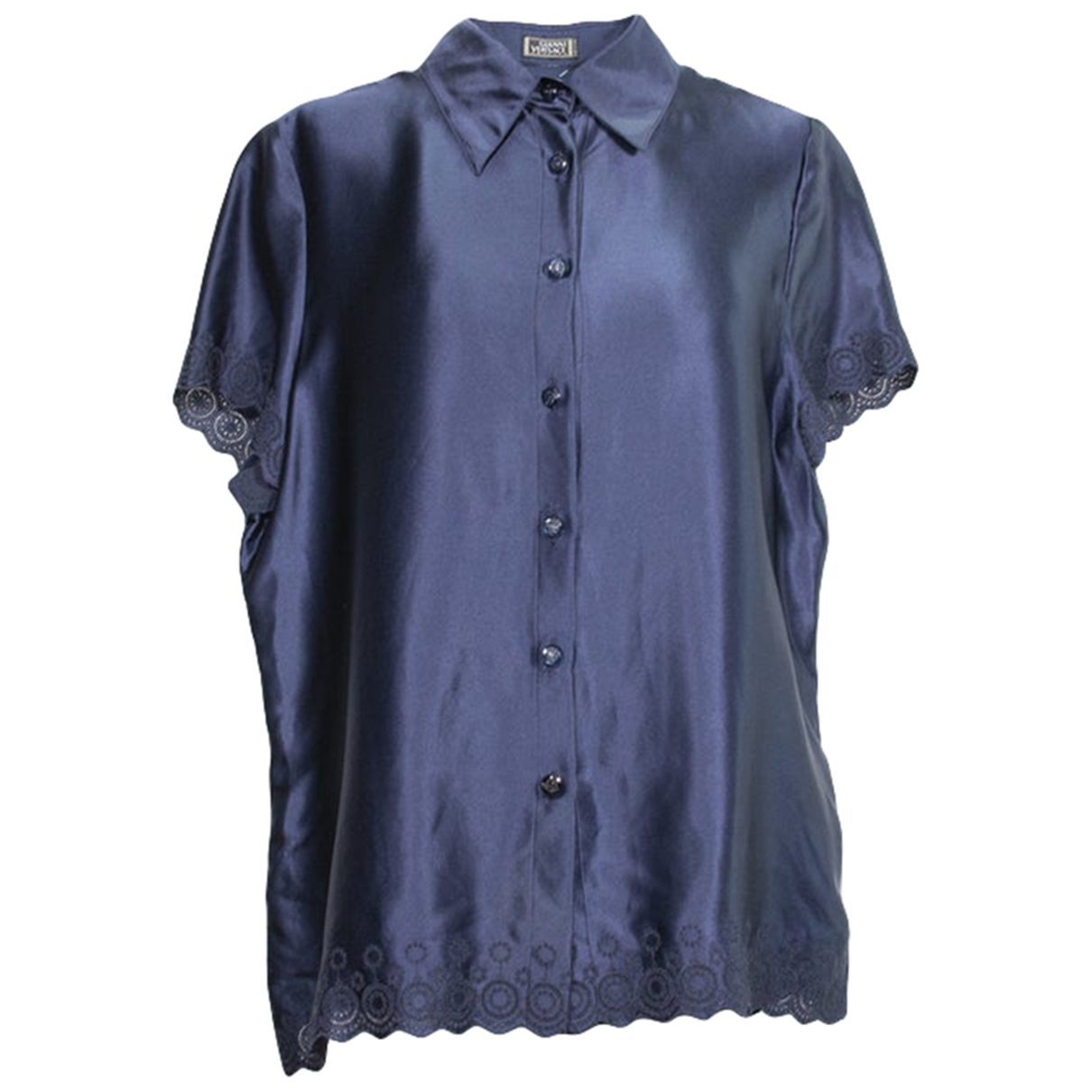 Gianni Versace \N Blue Silk  top for Women 46 IT