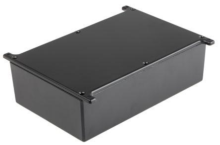 RS PRO Black Die Cast Aluminium Alloy Enclosure, Flanged, 187 x 118 x 56.5mm