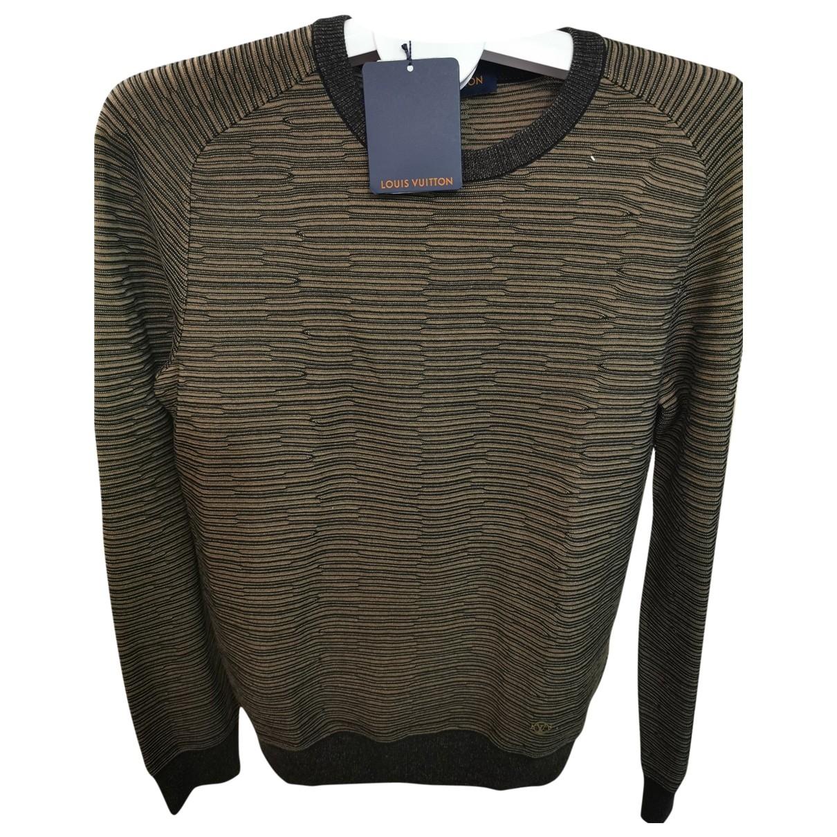 Louis Vuitton \N Pullover.Westen.Sweatshirts  in  Khaki Baumwolle