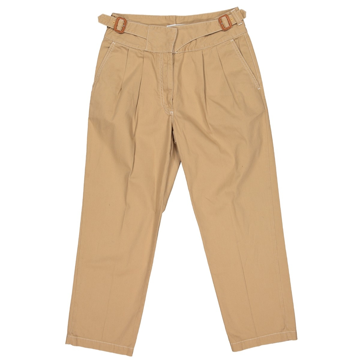Loewe \N Camel Cotton Trousers for Women 40 IT