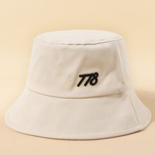 Number Embroidered Bucket Hat
