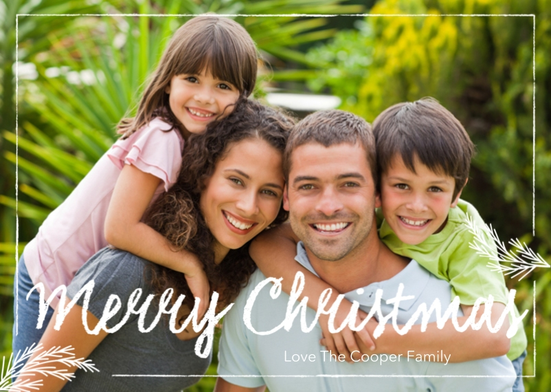 Christmas Photo Cards 5x7 Folded Cards, Premium Cardstock 120lb, Card & Stationery -Signature Chalk Greetings