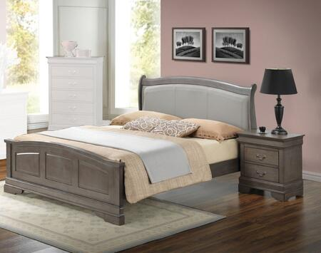 G3105C-TB2BEDROOMSET 2-Piece Bedroom Set with Twin Size Bed + Single Nightstand  in