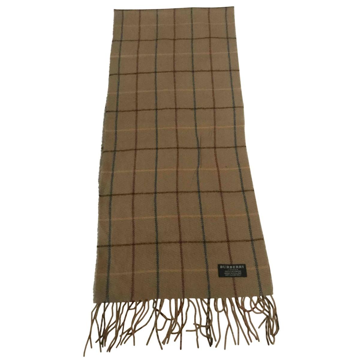 Burberry - Foulard   pour femme en cachemire - camel