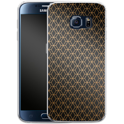 Samsung Galaxy S6 Silikon Handyhuelle - Night Pattern von #basic