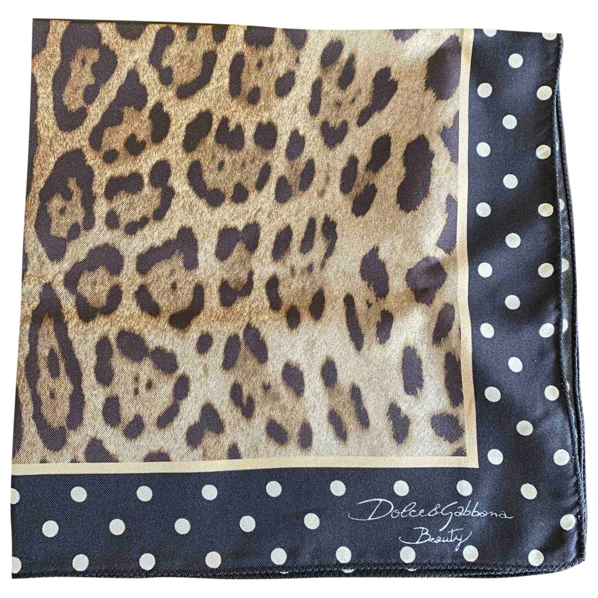 Dolce & Gabbana \N Schal in  Beige Seide
