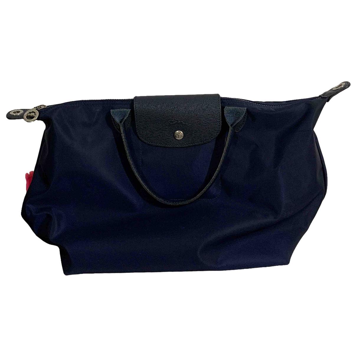Longchamp Pliage  Handtasche in  Blau Synthetik
