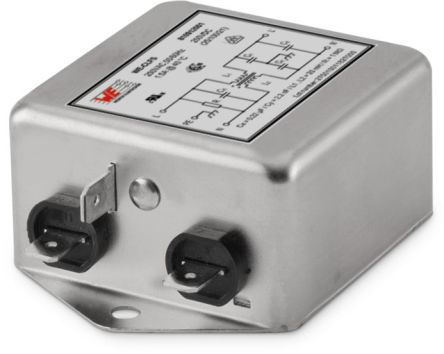 Wurth Elektronik WE-CLFS 6A 250 V 50/60Hz, Chassis Mount Power Line Filter, Fast-On, Single Phase (6)