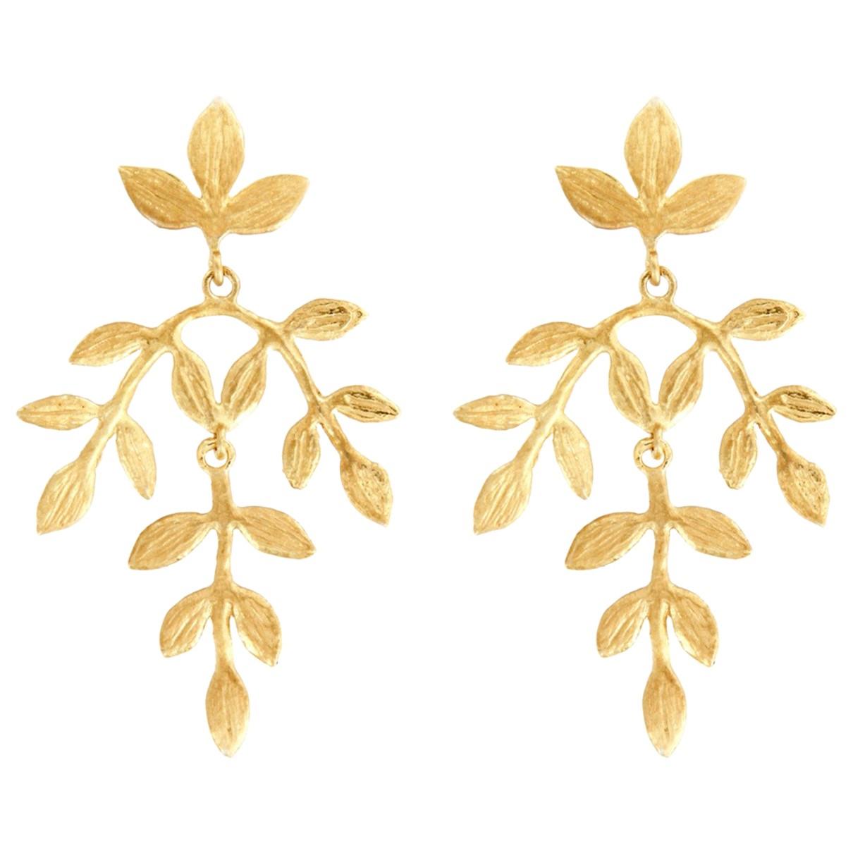 - Boucles doreilles Motifs Floraux pour femme en argent - dore