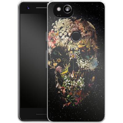Google Pixel 2 Silikon Handyhuelle - Smyrna Skull von Ali Gulec