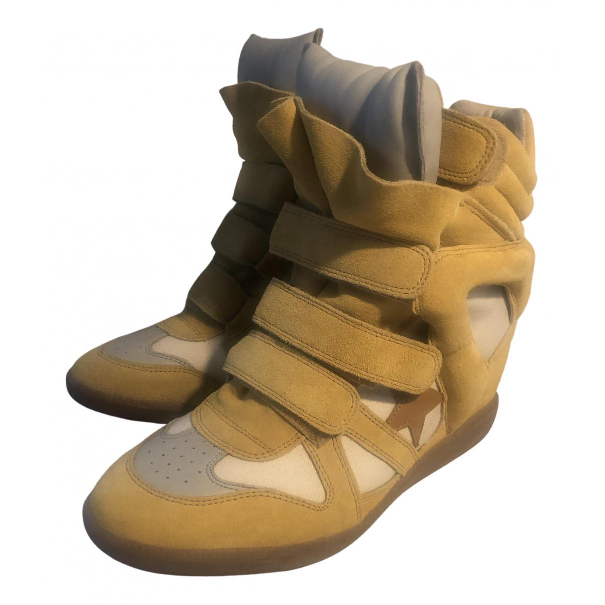 Isabel Marant \N Sneakers in  Gelb Veloursleder