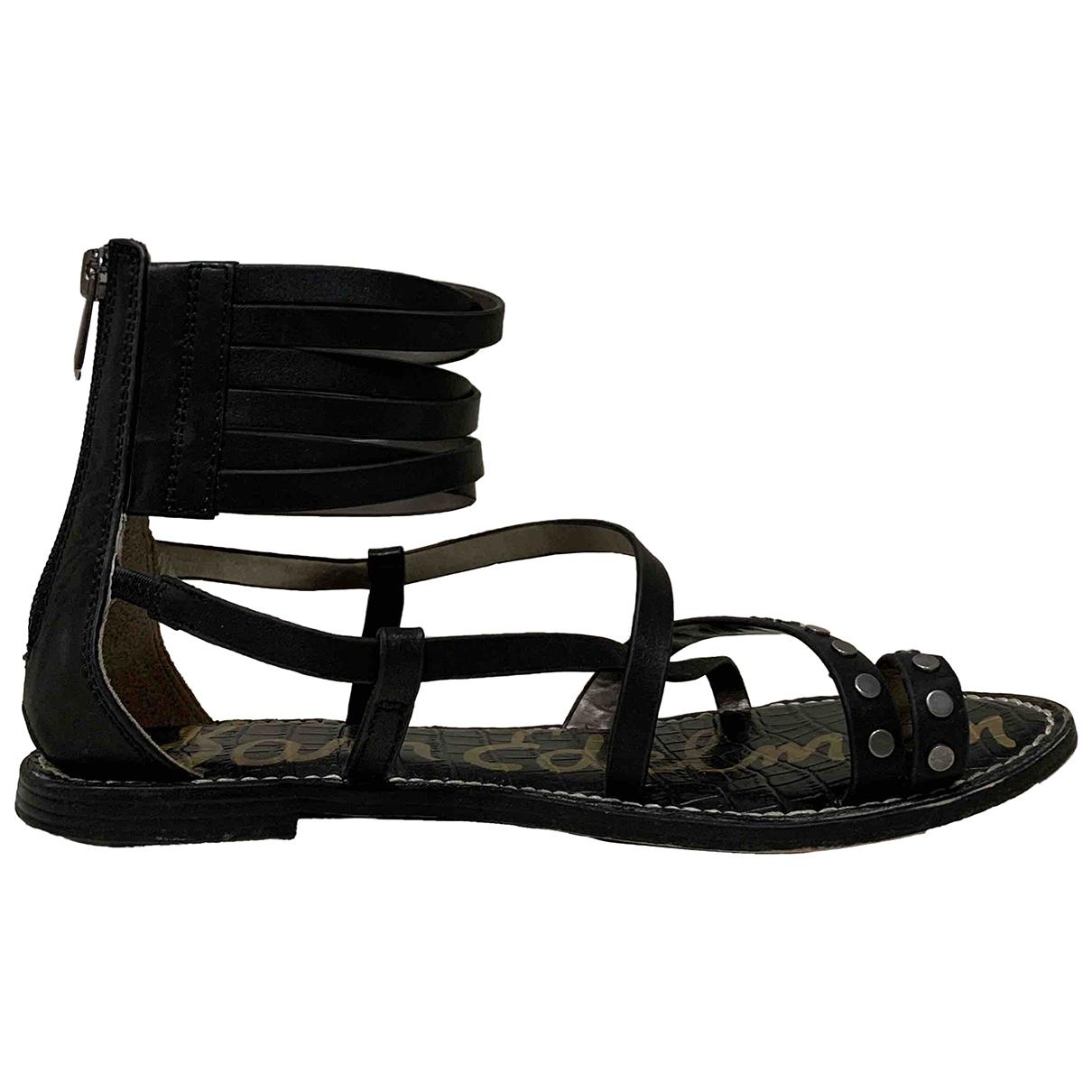 Sam Edelman - Sandales   pour femme en cuir - noir