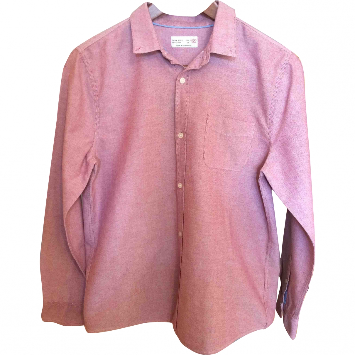 Zara \N Pink Cotton  top for Kids 14 years - S FR