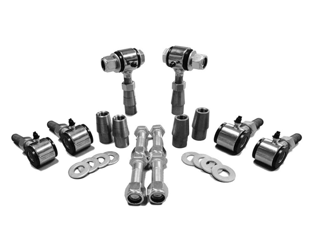 Steinjager J0006708 3/4-16 RH LH Poly Bushings Kits, Male 3/8 Bore x 1.75 Wide fits 1.250 x 0.120 Tubing Chrome Plated Bush Housing Six Poly Ends Per