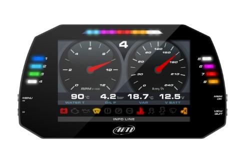 Aim Sports XA8MXGST12A020 MXG 1.2 Strada Dash Logger with OBD Cable