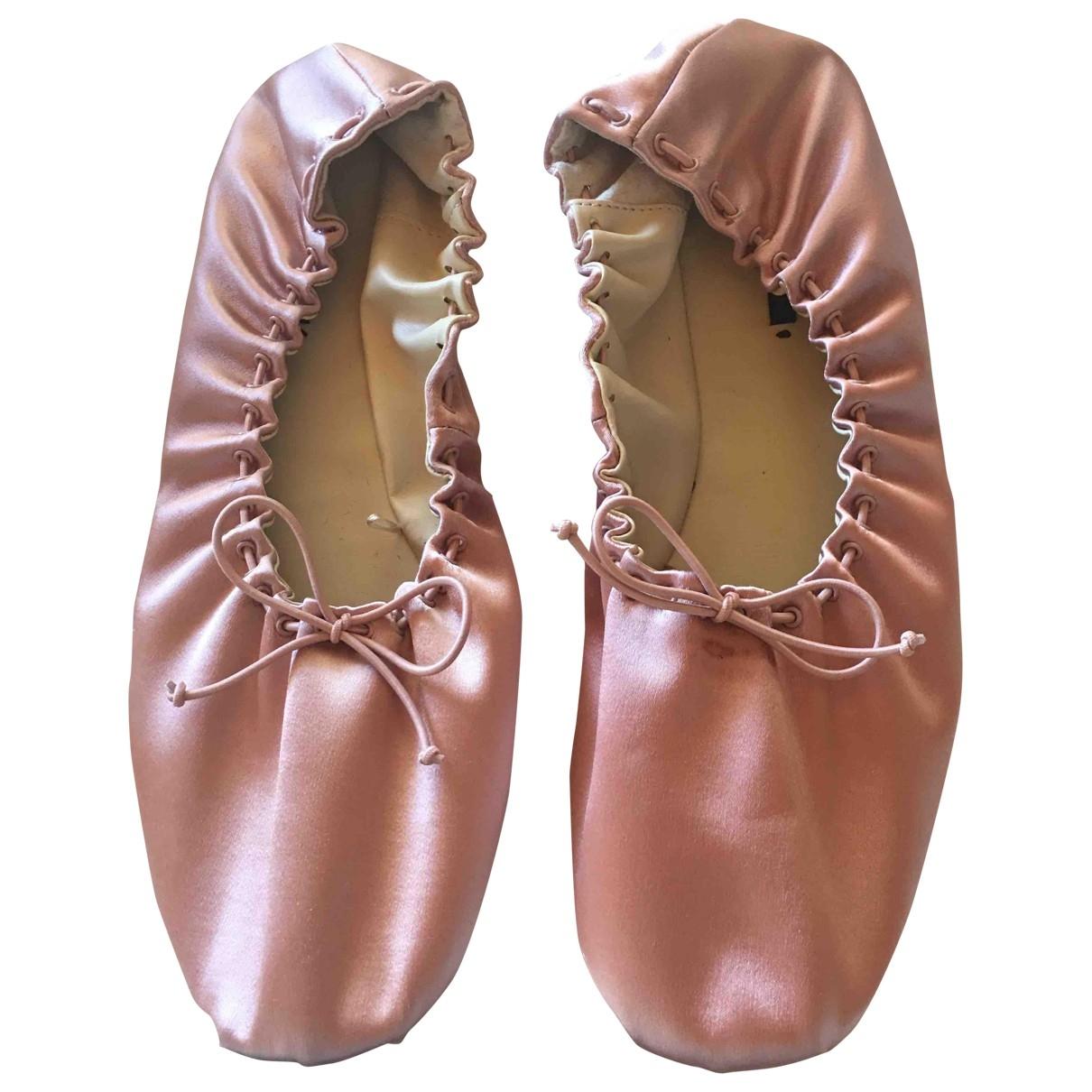 Zara - Ballerines   pour femme en toile - rose
