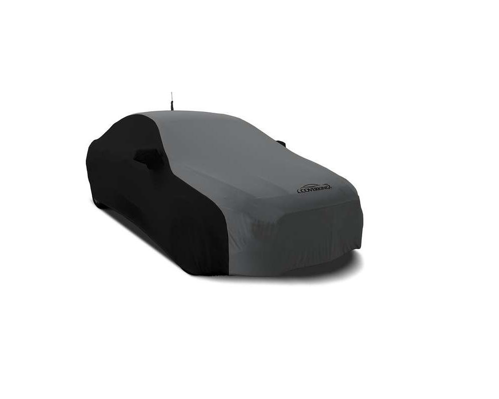 Coverking CVC3SS277PR2834 CVC3SS277 Coverking CVC3SS277PR2834 Satin Stretch 2-Tone Black Sides Metalic Gray Center Class 3 Custom Car Cover Porsche 91