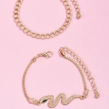 2 Stuecke Armband mit Schlange Detail