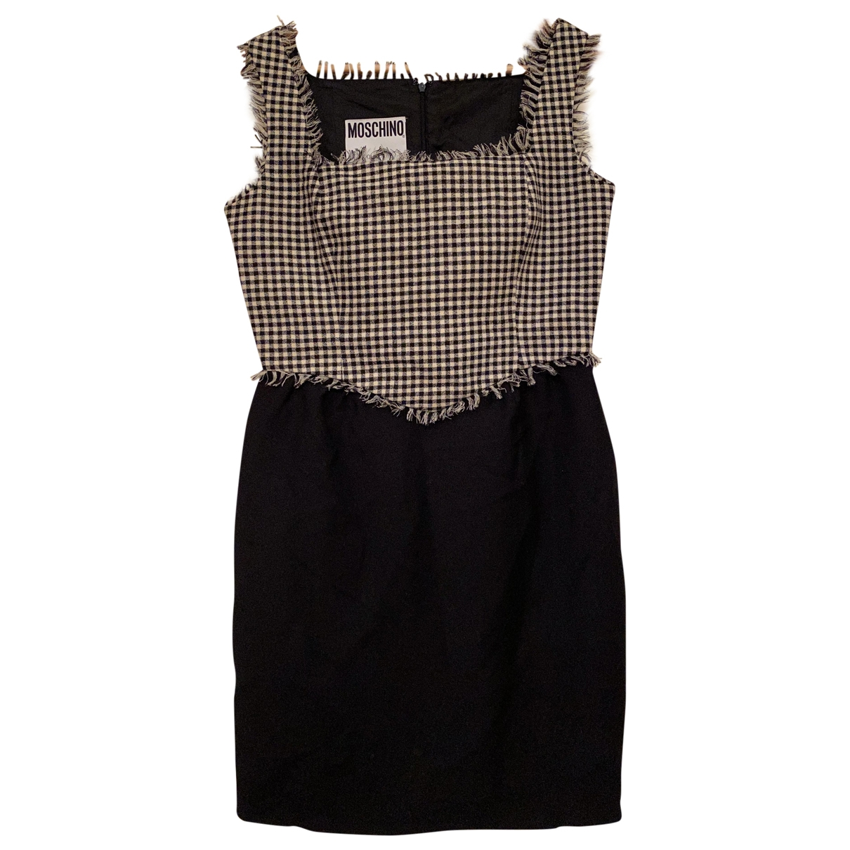 Moschino - Robe   pour femme en laine - noir