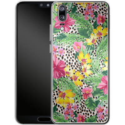 Huawei P20 Silikon Handyhuelle - Tropical Cheetah von caseable Designs